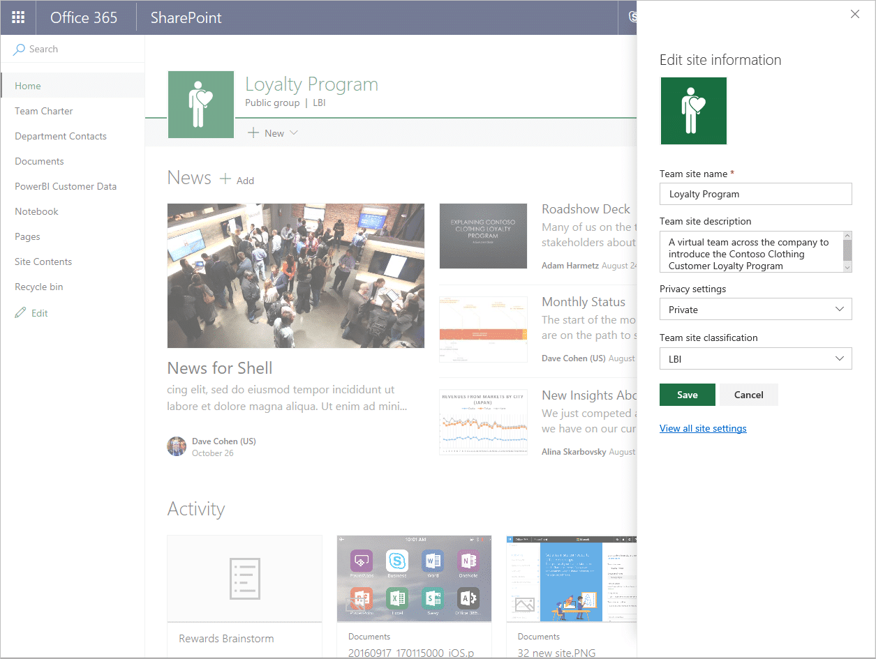 Easily create sharepoint team sites in office 365 for Draw online share